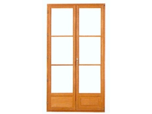 Porte acoustique en bois et vitr e contact isolbruit for Porte fenetre interieur bois