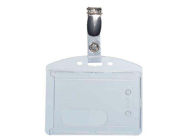 Portebadge Rigide En Polycarbonate Pour Carte ISO Contact SETON - Porte badge rigide