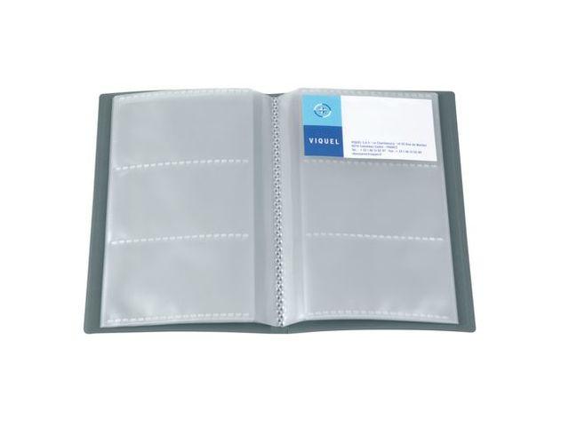 Porte Cartes De Visite Viquel Polypropylene 206 X 126 Cm Gris