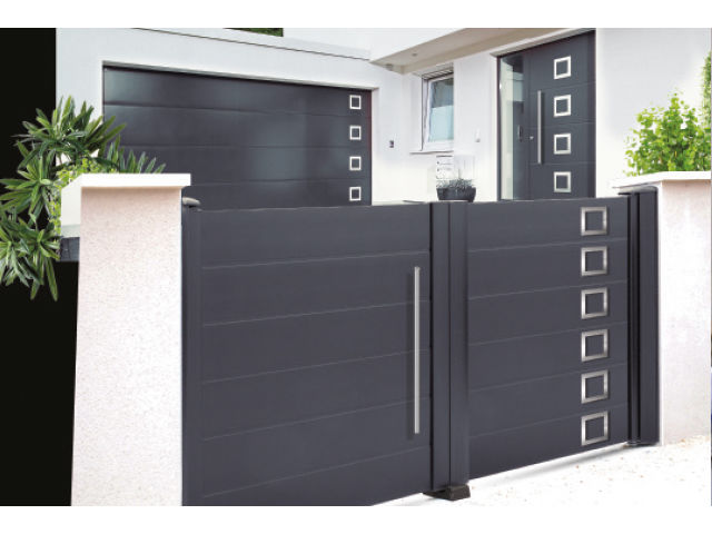 Porte d 39 entr e porte de garage portail collection for Porte entree garage
