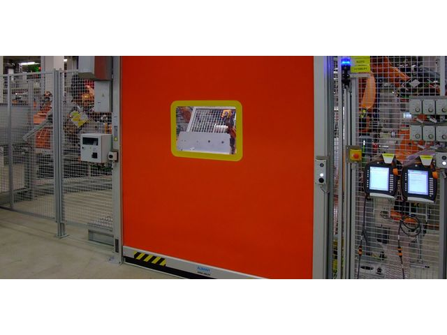 Porte de protection machine RP 300 ALBANY Toile renforcée Rolltex