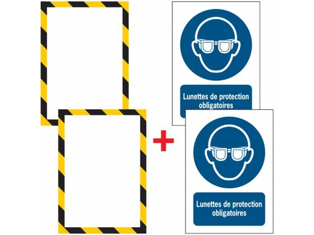 Porte documents adh sifs fermeture magn tique lunettes de protection obligatoires contact seton - Fermeture magnetique porte ...
