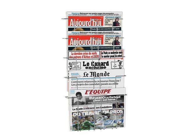 Achat pr sentoirs brochures de sol for Porte journaux mural