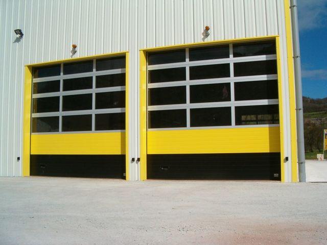 Porte sectionnelle industrielle vitr e contact asy ts - Porte sectionnelle industrielle occasion ...