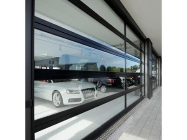 Porte sectionnelle vitr e aluminium alr f42 contact hormann - Porte sectionnelle aluminium ...