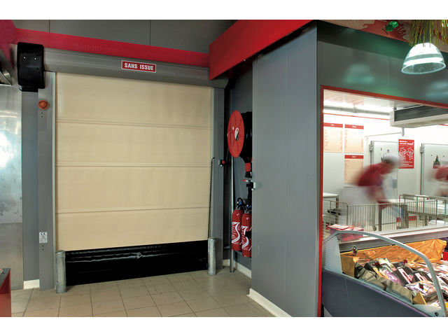 Porte souple rapide contact record portes automatiques - Porte automatique magasin ...