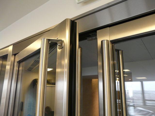 Porte vitr e coupe feu n o inox contact ateliers boullet - Porte vitree acoustique ...