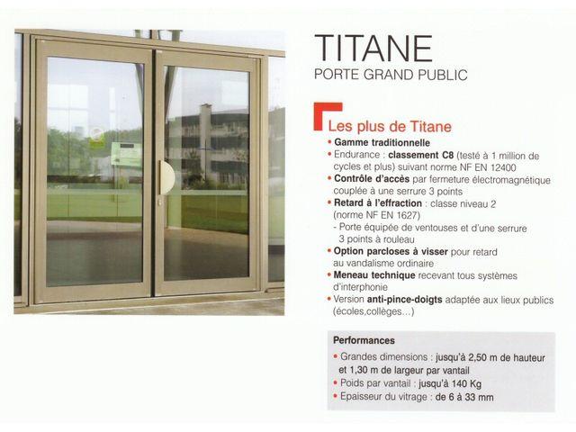 Portes TITANE aluminium Technal