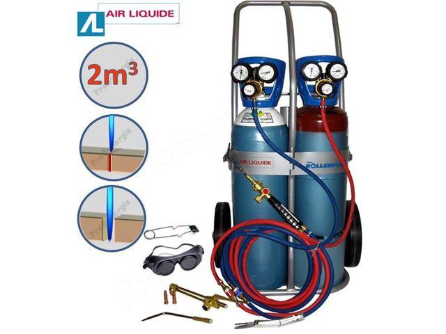 Poste souder oxy ac tyl ne trans flam air liquide version soudeur coupeur x11 ergonomique - Chalumeau oxy acetylene ...