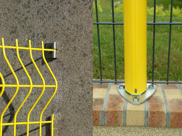 poteaux axis pour cl ture en panneaux rigides contact. Black Bedroom Furniture Sets. Home Design Ideas