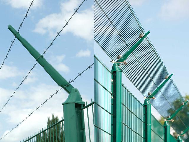 Poteaux axis pour cl ture en panneaux rigides contact for Cloture axis dirickx