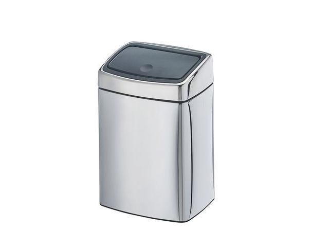poubelle 10 litres brabantia touch bin rectangle inox brillant contact maxiburo. Black Bedroom Furniture Sets. Home Design Ideas