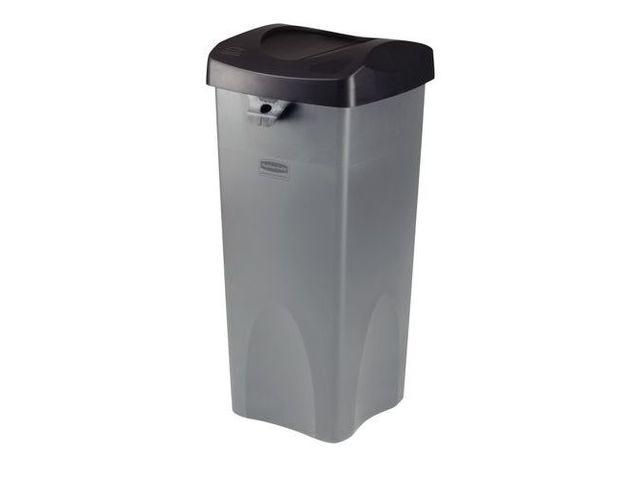 poubelle carr e en plastique 87 l contact manutan. Black Bedroom Furniture Sets. Home Design Ideas