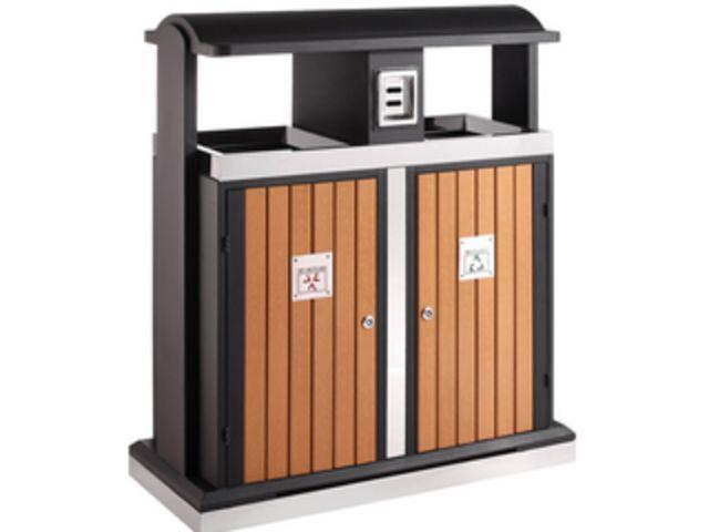 poubelle d 39 ext rieur tri s lectif 2x50 l cendrier. Black Bedroom Furniture Sets. Home Design Ideas
