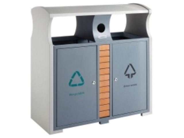 poubelle de tri s lectif d 39 ext rieur design avec bac piles contact axess industries. Black Bedroom Furniture Sets. Home Design Ideas