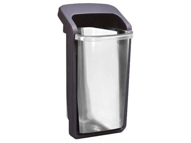 poubelle translucide de 50 litres contact pro signalisation. Black Bedroom Furniture Sets. Home Design Ideas