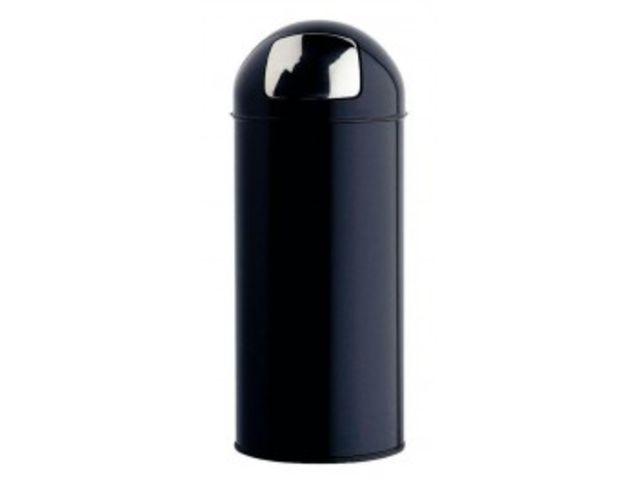 Poubelle trappe en acier litres noir contact mon bureau et moi