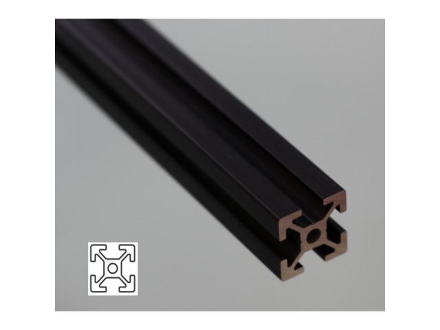 profil aluminium 20x20 fente 6 mm anodis noir contact. Black Bedroom Furniture Sets. Home Design Ideas