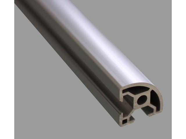 profil aluminium 30x30 arrondi fente 8 mm contact systeal. Black Bedroom Furniture Sets. Home Design Ideas