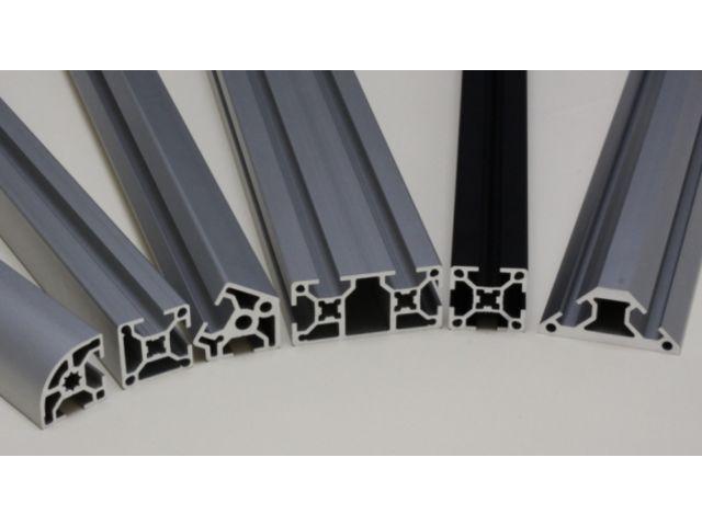 profil aluminium 30x60 fente 8 mm anodis noir. Black Bedroom Furniture Sets. Home Design Ideas