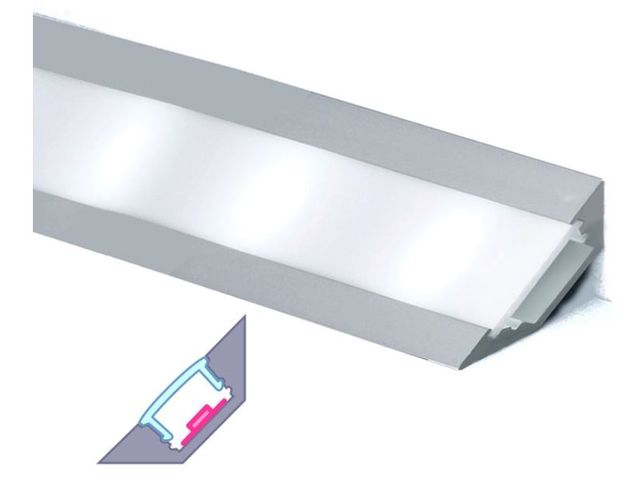 Profilé aluminium d'angle pour ruban LED : CRAFT - A03_FRANCE LED DIFFUSION - ByLED_1