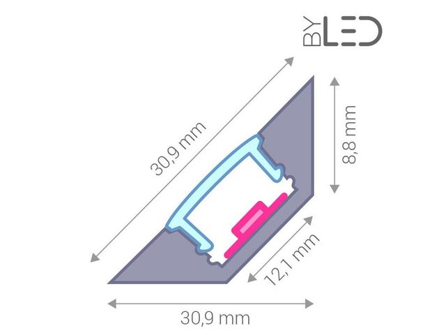Profilé aluminium d'angle pour ruban LED : CRAFT - A03_FRANCE LED DIFFUSION - ByLED_3