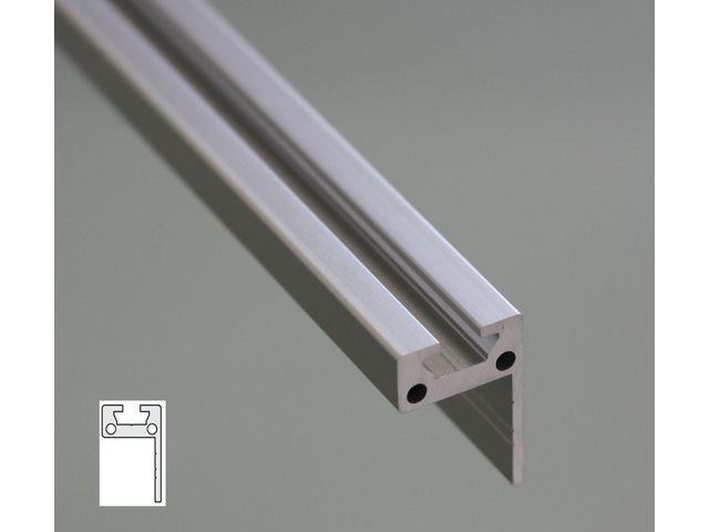 profil aluminium plat en l 30x20 fente de 6 mm contact systeal. Black Bedroom Furniture Sets. Home Design Ideas
