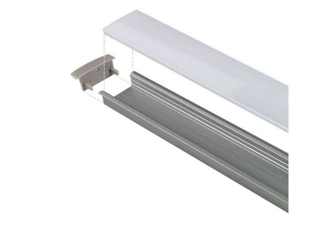 Devis Profilé LED aluminium encastrable large - CRAFT - E08