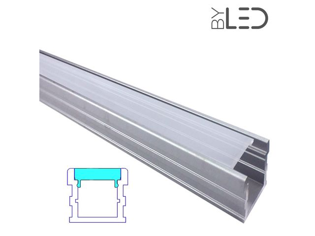 Profilé LED aluminium sol renforcé - CRAFT - F03_FRANCE LED DIFFUSION - ByLED