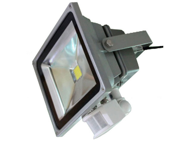 projecteur etanche led 50w 100 240v 2700k 3000k 120 ip65 avec d tecteur contact france lampes. Black Bedroom Furniture Sets. Home Design Ideas