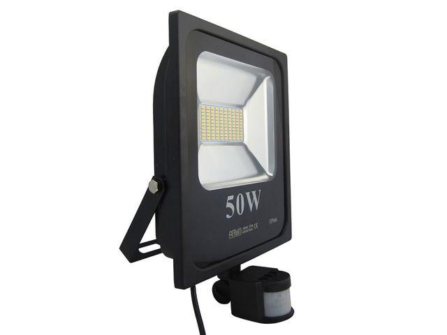 projecteur led 50w avec d tecteur de mouvement contact. Black Bedroom Furniture Sets. Home Design Ideas
