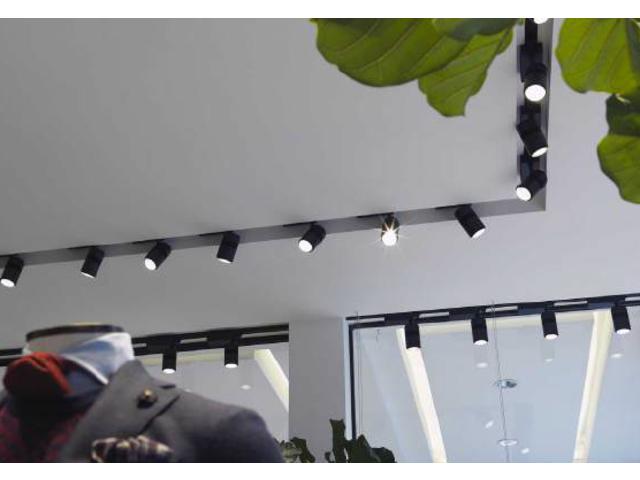 projecteur orientable sur rail 53w 4450lm contact chm led. Black Bedroom Furniture Sets. Home Design Ideas