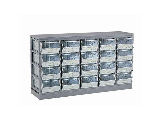 rack de rangement pour bacs bec et caisses contact manutan. Black Bedroom Furniture Sets. Home Design Ideas