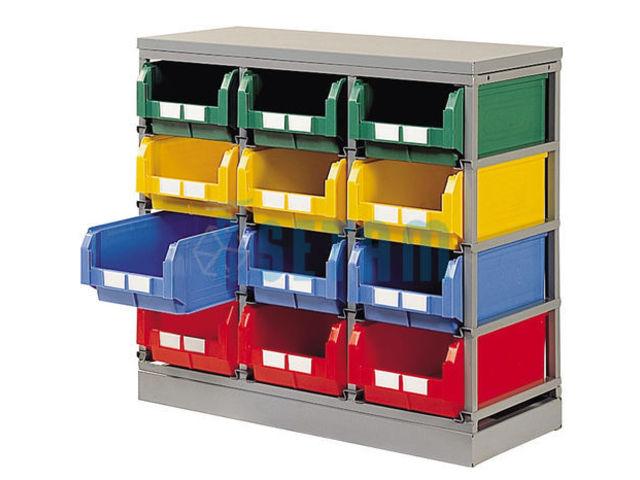 rack rangement pour 12 bacs plastique 28 litres contact setam rayonnage et mobilier professionnel