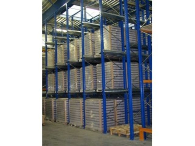 Rack stockage rayonnage palette par accumulation - Rack de stockage brico depot ...