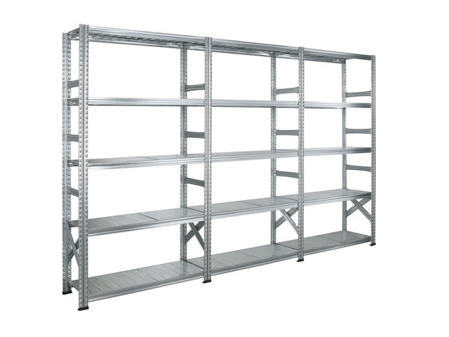Rayonnage métallique galvanisé longueur 3 mètres | Contact SETAM