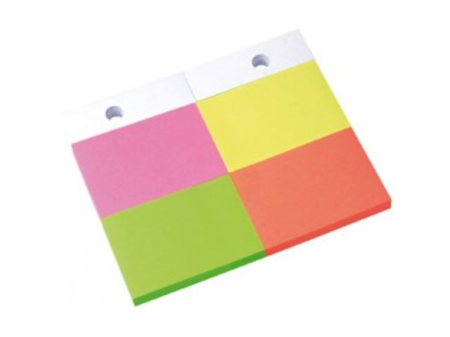 Recharge Blocs Notes repositionnables Fluo 100mm pour ref 59228