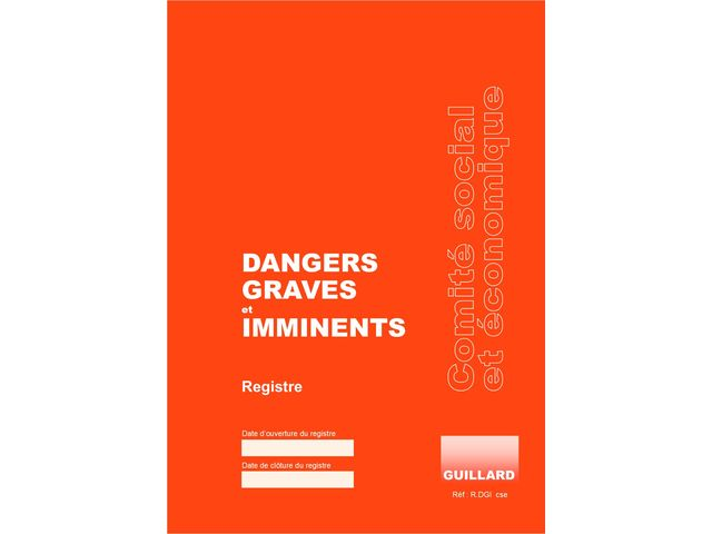 Registre de dangers graves et imminents  - R.DGI.cse