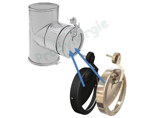 R gulateur de tirage tigex inox noir 150g diam 10 35 pa pour chemin e jusqu au diam - Regulateur de tirage ...