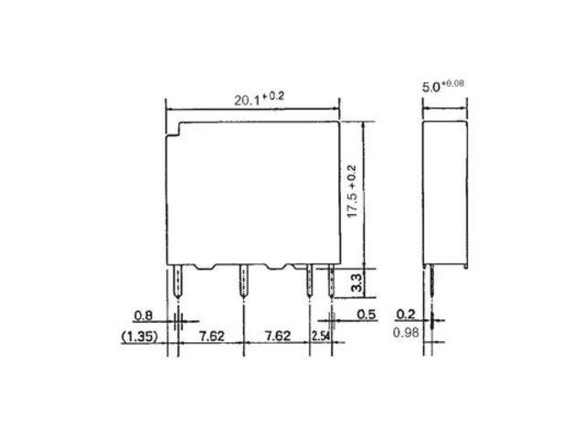 relais de puissance 1 contact fermeture pour circuit imprim 24 v coupure 270 v ac 125 v dc 5. Black Bedroom Furniture Sets. Home Design Ideas