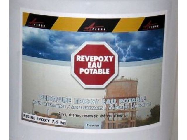 Rev tement r servoir eau potable cuve citerne chateau d 39 eau contact arc - Cuve eau potable enterre ...