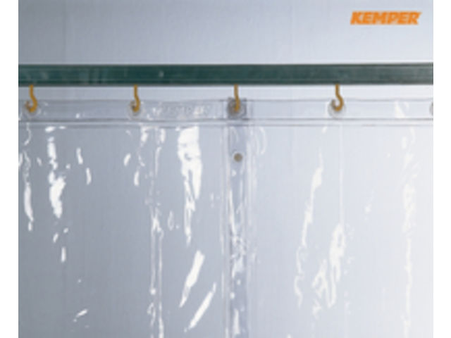 Rideau de protection s0 transparent contact kemper - Rideau de porte lamelles plastique ...