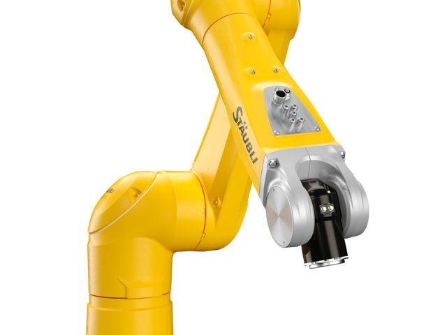 Wrist and connexions of the TX2-90 6-axis collaborative robot