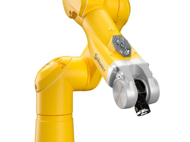 Wrist and connexions of the TX2-60 6-axis collaborative robot