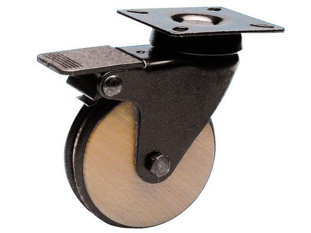 roulette en bois avec frein arri re unibois contact guitel france. Black Bedroom Furniture Sets. Home Design Ideas