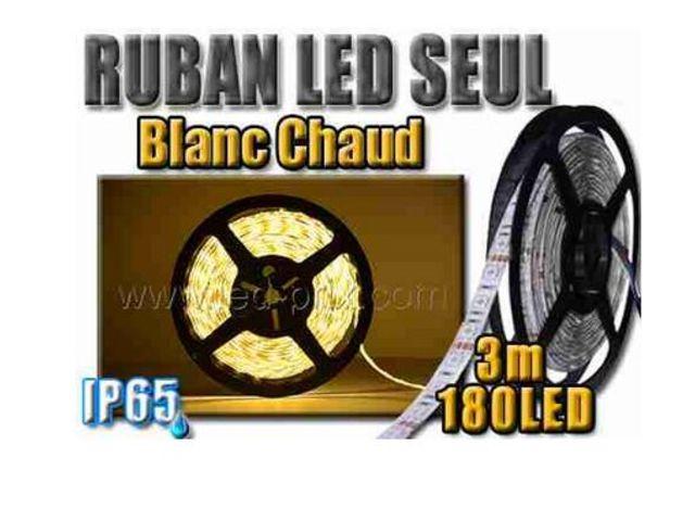 ruban 180 led blanc chaud tanche 3m contact sarl led prix com. Black Bedroom Furniture Sets. Home Design Ideas
