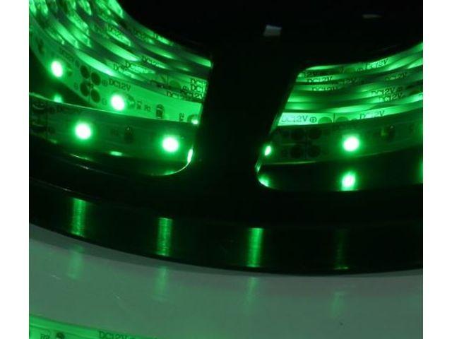 ruban led non tanche ruban led ip33 vert 4 8 w m contact ledproshop. Black Bedroom Furniture Sets. Home Design Ideas