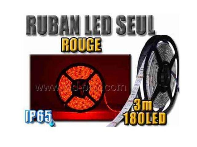 ruban led rouge tanche 180 leds 3 m tres contact sarl led prix com. Black Bedroom Furniture Sets. Home Design Ideas