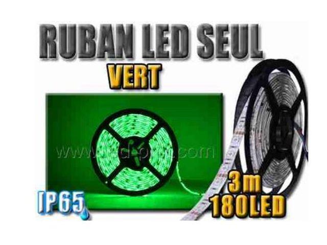 ruban led vert tanche 180 leds 3 m tres contact sarl led prix com. Black Bedroom Furniture Sets. Home Design Ideas