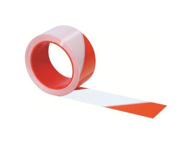 ruban de signalisation rouge//blanc noir//jaune 50mmx100m